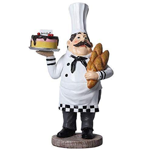 Sleeri Chef Figurines Kitchen Decor Resin Chef Holding B Https Www Amazon Com Dp B07xf5tbw9 Ref Cm Sw R Pi D Kitchen Decor Chef Decorations Home Kitchens