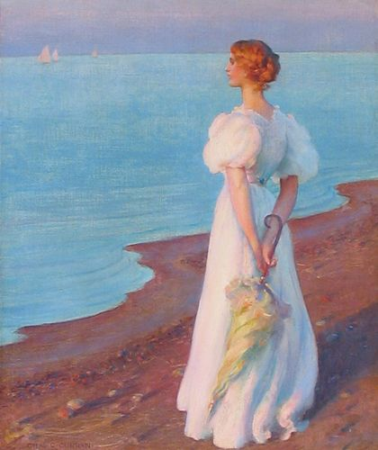 Charles Courtney Curran, On the Shore of Lake Erie: