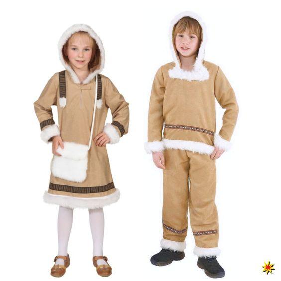 Kostüm Eskimo Mädchen und Eskimo Junge, Verkleidung zum Kinderfasching - gesehen im Onlineshop karneval-feuerwerk.de