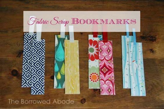 DIY Fabric Scrap Bookmarks - Great Stocking Stuffer Gift for people who read!: