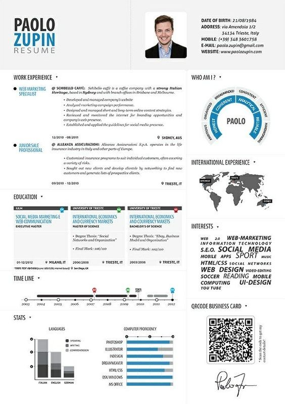another cool resume design resumes that don t
