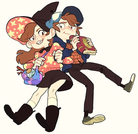 magecom: Rini told me about her coven AU and I think it actually fits the GF lore + witch hats look adorable on them!! Basically, Dipper and Mabel are the only magic practitioners in their family. They get shipped out to their Grunkle Stan up in Gravity Falls, who's their closest relative who can help them better their skills. Dipper in Divination, Mabel in Charms, and Stan in Enchantment. something like that haha we're still working it out.