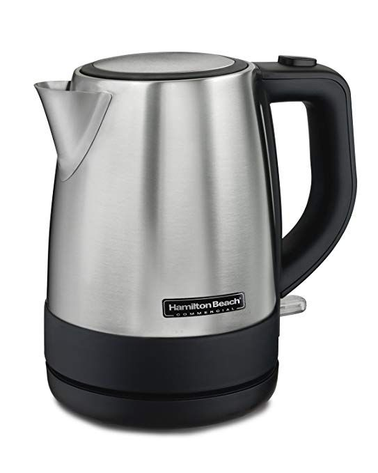 Hamilton Beach Commercial Hke110 1 Liter Hot Water Tea Kettle Hospitality Rated Stainless Steel Review Electric Tea Kettle