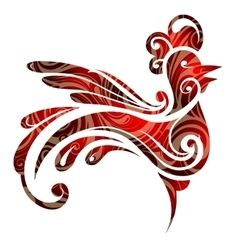 Year 2017 symbol rooster vector: