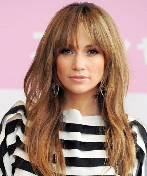 8 Of The Most Stunning Full Fringe Hairstyles 2018 For Women With Long Hair Hair And Comb Jennifer Lopez Hair Jennifer Lopez Hair Color Jlo Hair