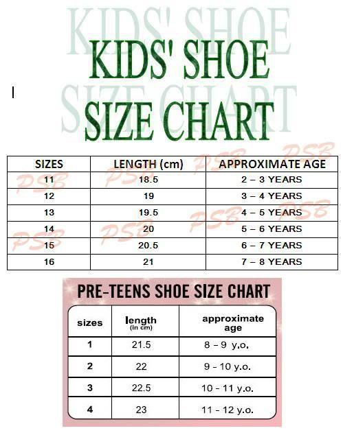 Toddlers Kids Shoe Sizes