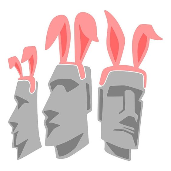 Easter Island Cuttable Designs SVG DXF EPS use with by CuttableSVG