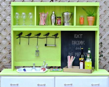 Use Your Potting Bench for Entertaining