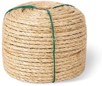 Amazon Com Yangbaga Sisal Rope For Cats 1 4 Inch Natural Fiber And Color 164ft Pet Supplies In 2020 Sisal Rope Best Cat Scratching Post Cat Scratching Post