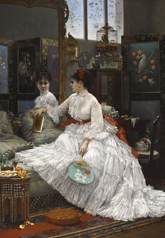 """Distraction"""" by Jules Emile Saintin, 1875"""