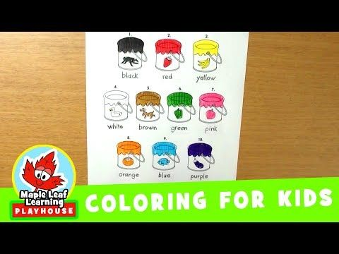 118 Paint Bucket Coloring Page For Kids Maple Leaf Learning