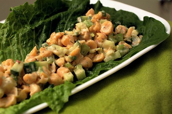 Chickpea Lettuce Wraps by erin), via Flickr