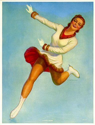 VICTOR TCHETCHET FIGURE SKATING LADY.