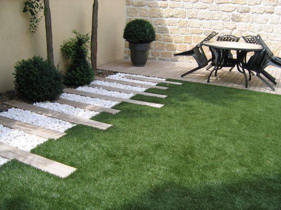 Jardin moderne contemporain inspiraci n de dise o de for Jardin contemporain