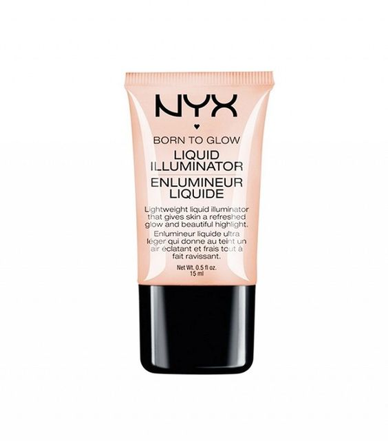 5 Drugstore Highlighters Celebrity Makeup Artists Are Obsessed With | Byrdie. Nyx Born to Glow Liquid Illuminator ($8).