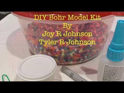 Diy Bohr Model Kit Beryllium Youtube Model Kit Bohr Model Diy