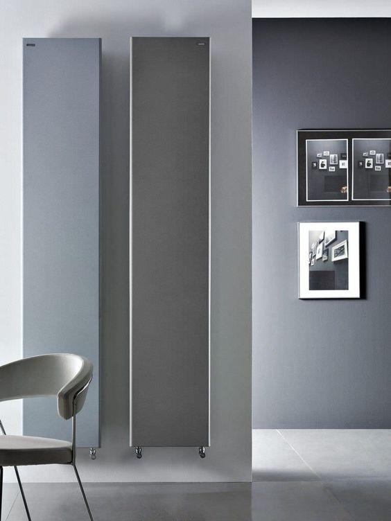 Heißwasser-Heizkörper / Vertikal / aus Stahl / Wandmontage TIF by Andrea Crosetta Antrax IT
