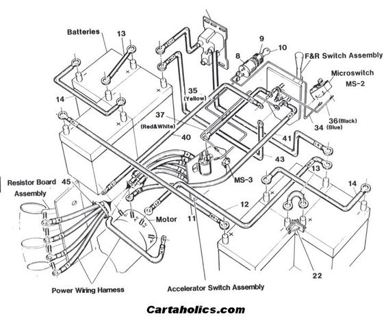 looking for a club car (golf cart) 48 volt wiring diagram to, Wiring diagram