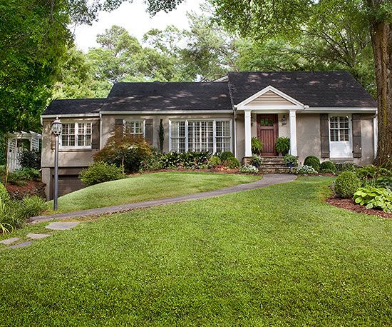 Ranch Style Home Ideas Exterior Colors Lighting And Front Yards
