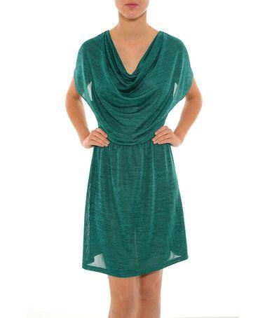 Look at this #zulilyfind! Green Mabella Dress #zulilyfinds