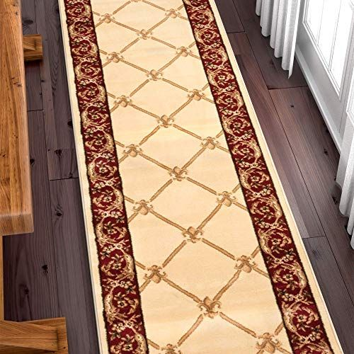 New Well Woven Custom Size Hallway Runner Choose Your Length Patrician Trellis Ivory French Traditional 31 Inch Wide X 10 Feet Long Runner Online Chicprett In 2020 Well Woven Framed Mirror Wall Hallway Runner