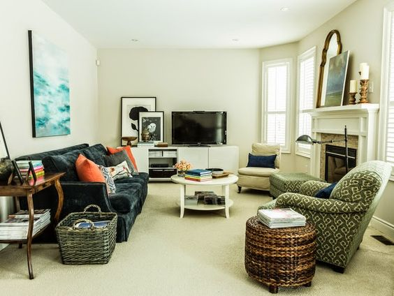 Marvelous Beautiful Family Room Layout Feature Friday Decor Happy Largest Home Design Picture Inspirations Pitcheantrous
