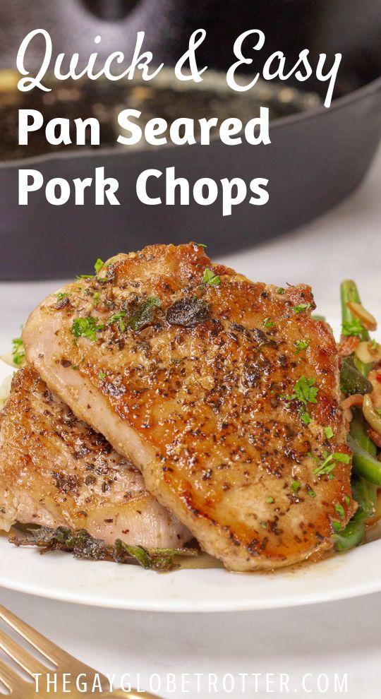 Pan Seared Pork Chops