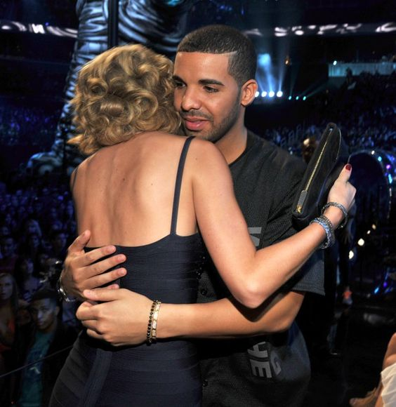 Pin for Later: 45 Celebrities Who Can't Believe They're Hugging Taylor Swift Drake