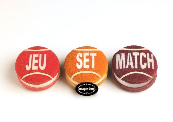 TROMPE-L'OEIL - Série de macarons fabriqués à la main à la boutique HäagenDazs des Champs-Elysées - edition limitée - 20€ les trois