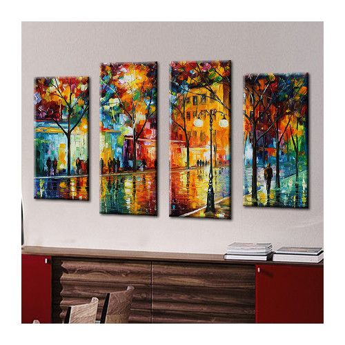 Picture Perfect International 'The Tears Of The Fall' by Leonid Afremov 4 Piece Painting Print on Wrapped Canvas Set