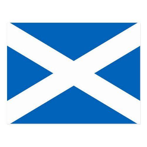 Postcard With Flag Of The Scotland Zazzle Com Flag Of Scotland Scotland Postcard
