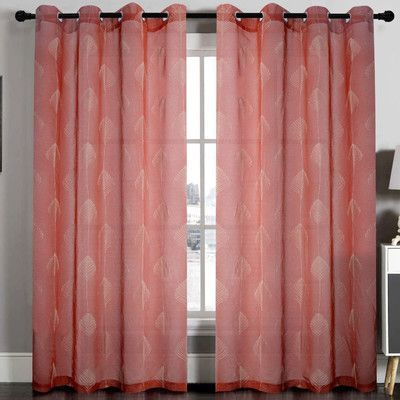 Home Sweet Home Dreams Jennifer Curtain Panel (Set of 2) Color: