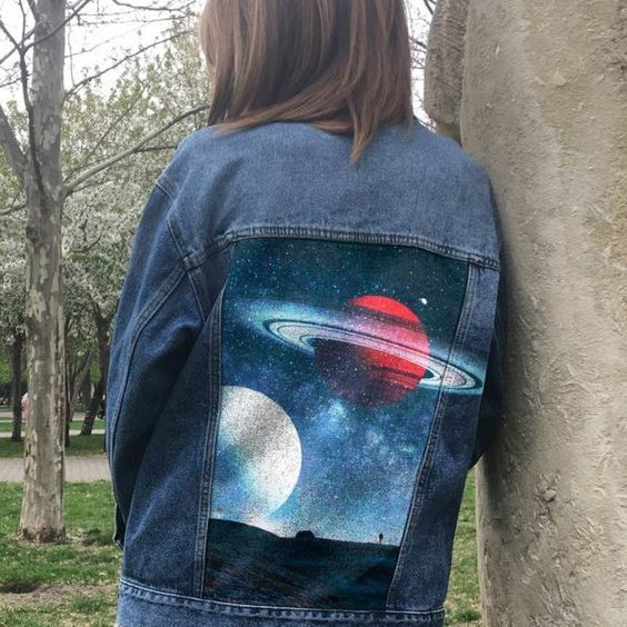 25 Diy Denim Jacket For Daily Women S Outfit Style Ideas Diy Denim Jacket Hand Painted Denim Jacket Diy Jacket