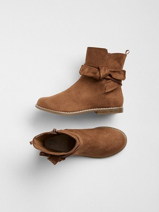 Gap Girls Knot-Tie Ankle Boots Summer
