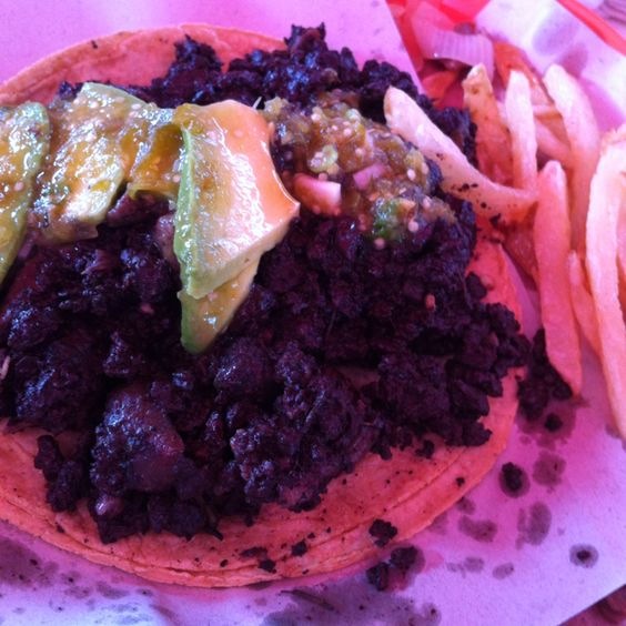 Taco de moronga #mexicanfood