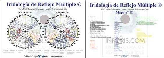 Iridología de Reflejo Múltiple. Mapa nº 12 a doble cara. Javier Echavarren #iridología #iridologia #iridology #iridologie