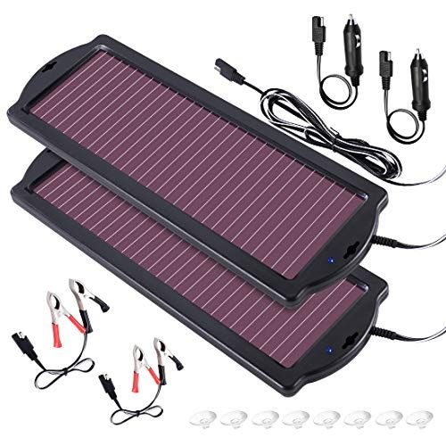 Powoxi Solar Car Battery Trickle Charger 12v 1 8w Solar Battery Charger Car Waterproof Portable Amorphous Solar Solar Battery Charger Solar Battery Solar Car