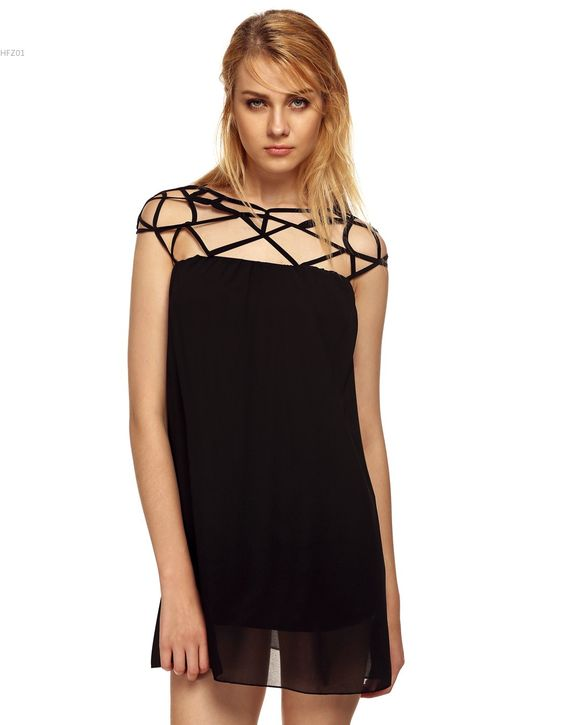 Find More Dresses Information about 2016 summer dress vestido women dress new fashion chiffon little black dress hollow out shift party dress club sexy mini dress,High Quality dress store,China dress rock Suppliers, Cheap dress for dance competition from Hot Fashion Zone on Aliexpress.com