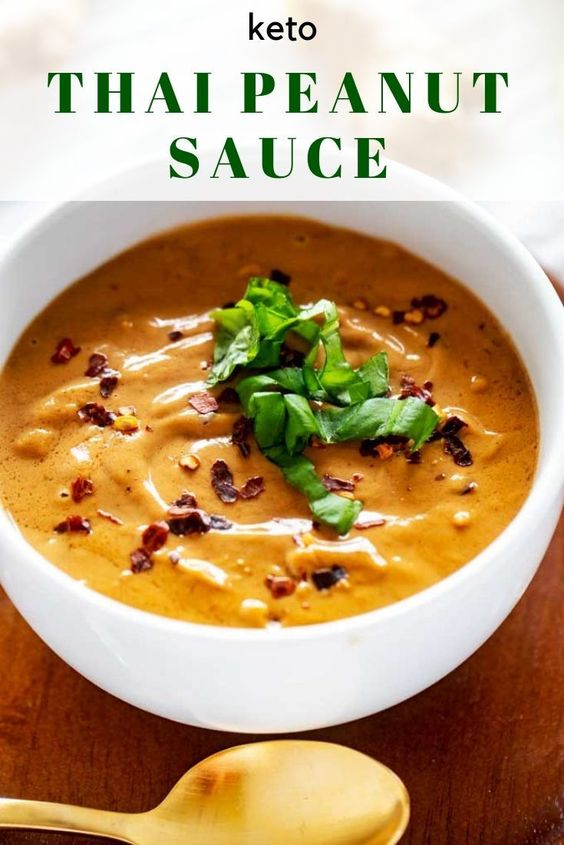 Keto Peanut Sauce - A Spicy Thai Sauce that will Rock Your World