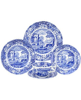 """Spode """"Blue Italian"""" - I think I'd like Spode Blue Italian for my new every day dishes..."""