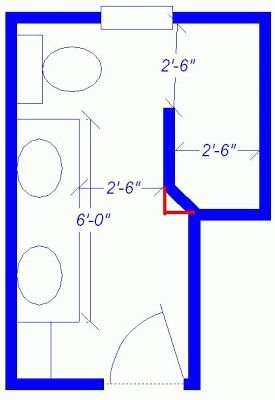 Small doorless shower designs doorless shower dimensions for Walk in shower plans and specs