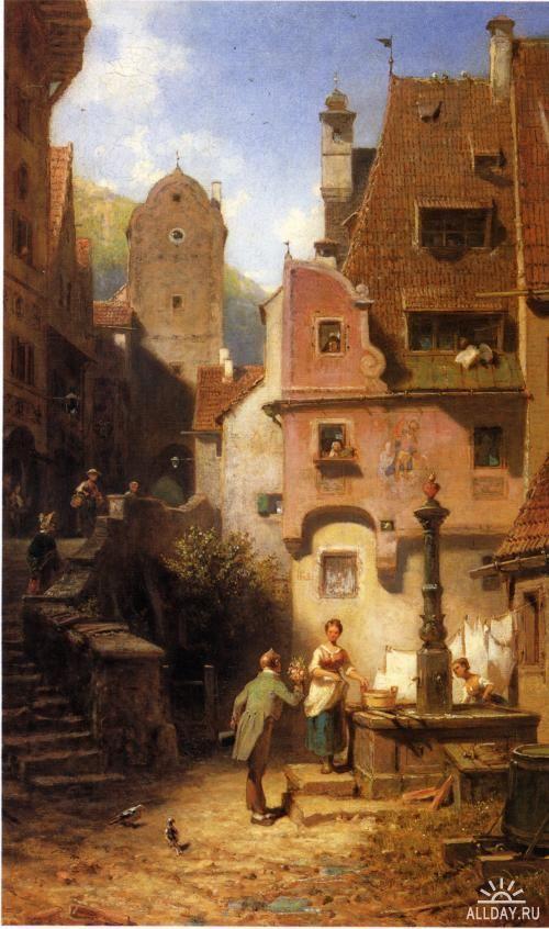 Carl spitzweg german painter 19th century genre painting for Classic house genre