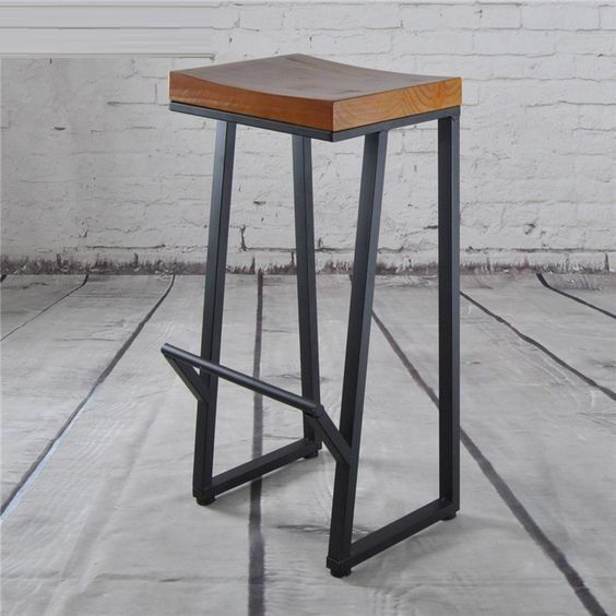 Height 13 40in 33 99cm Wood Metal Stool With Images Wood Bar