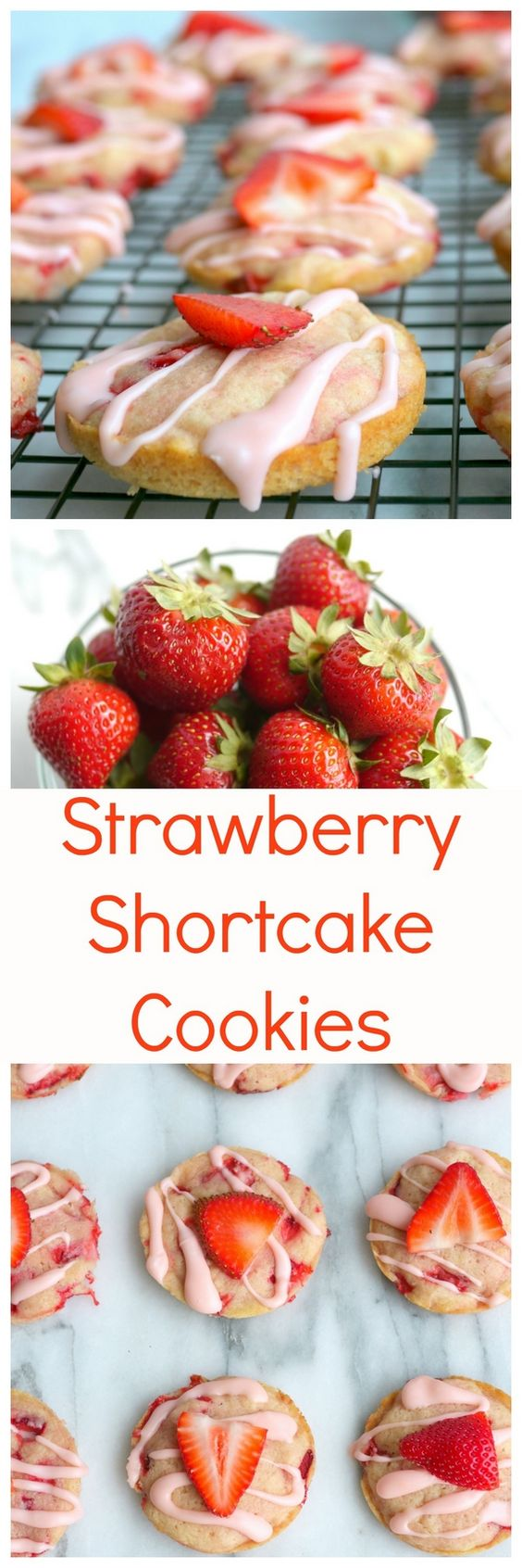 Baked Strawberry Shortcake Cookies | Recipe | Strawberry shortcake ...