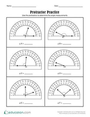 Protractor Practice In 2020 With Images Geometry Worksheets