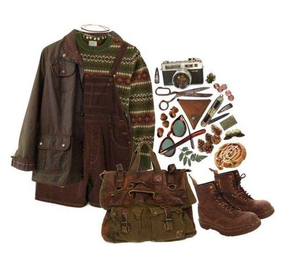 Dark brown outfit set
