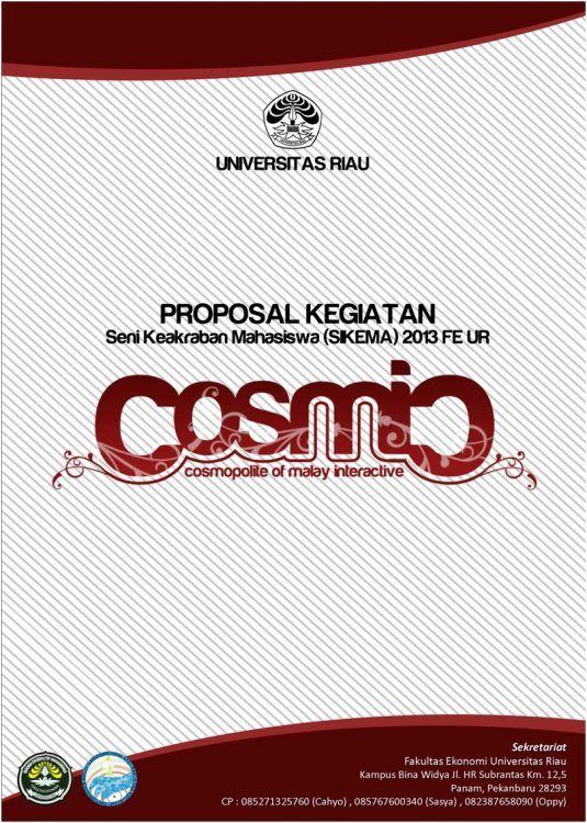 contoh cover proposal kegiatan proposal mahasiswa universitas