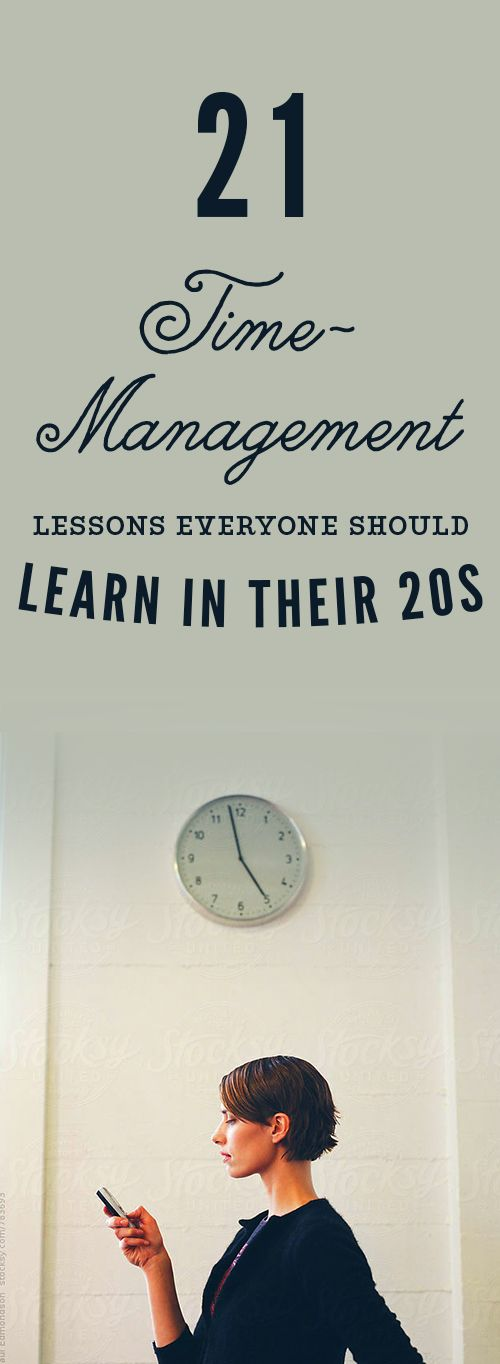 Master one of the most difficult career skills- time management, with these 21 lessons.