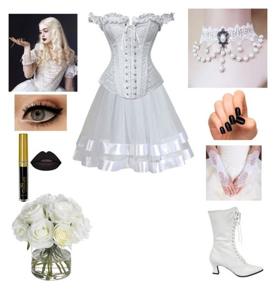 """The White Queen- Alice in Wonderland- Cosplay"" by shadow-cheshire ❤ liked on Polyvore featuring Fit-to-Kill, Luxury Style, Diane James, Daisy Corsets, women's clothing, women, female, woman, misses and juniors:"