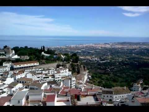 From Mijas to Africa ... A view from above Mijas pueblo, Málaga, southern Spain
